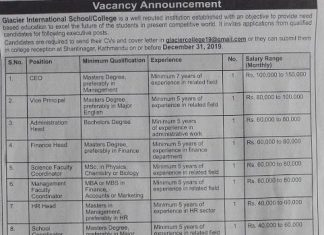 more than 41 vacancies at glacier international school college - www.gonewson.com