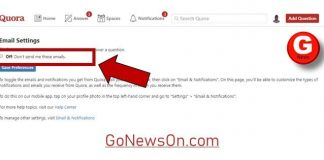 How To Unsubscribe From Quora Emails - www.GoNewsOn.com
