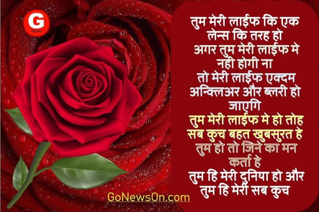 Love Quotes For Girlfriend in Hindi, Tum Hi Meri Sab Kuch Ho - www.GoNewsOn.com