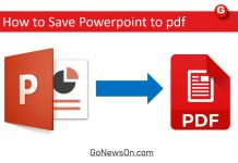 How to Save Powerpoint to pdf - www.GoNewsOn.com