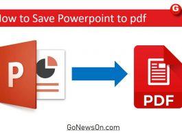 How to Save Powerpoint to pdf - www.GoNewsOn.com