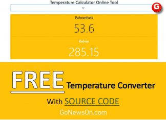 Temperature Converter Calculator - www.GoNewsOn.com